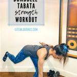 Entraînement de force avec haltères Tabata